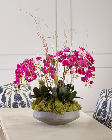 John-Richard Collection Crystal Orchid Garden Floral Arrangement
