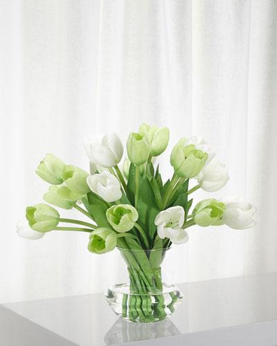 Tulip Green Floral Arrangement