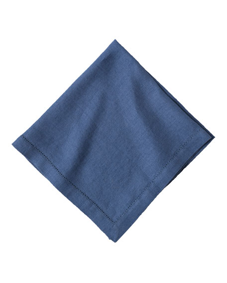 Heirloom Linen Napkin, Delft Blue