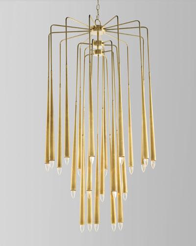Hans 23-Light Brass Chandelier