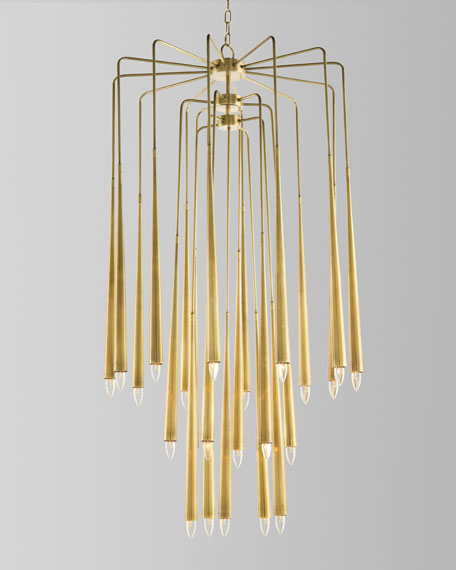 John-Richard Collection Hans 23-Light Brass Chandelier
