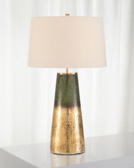 John-Richard Collection Charcoal Gold Glass Table Lamp