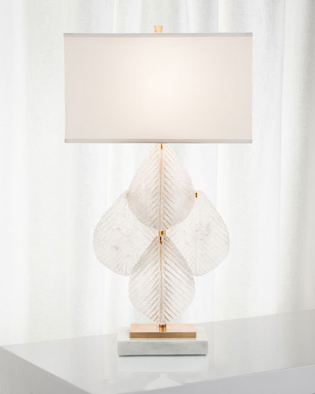 Glass Petal Table Lamp