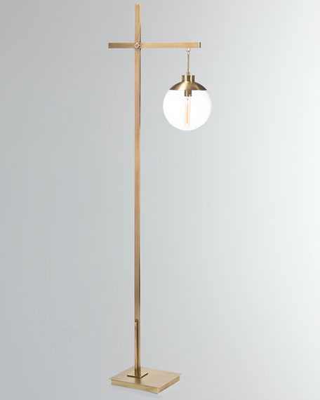 Brass Globe Floor Lamp