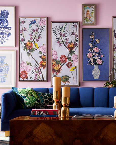 """China Blue I and II"" Giclee Canvas Wall Art, Set of 2"