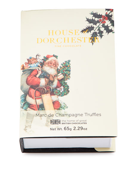 Christmas Marc de Champagne Truffles Book Box