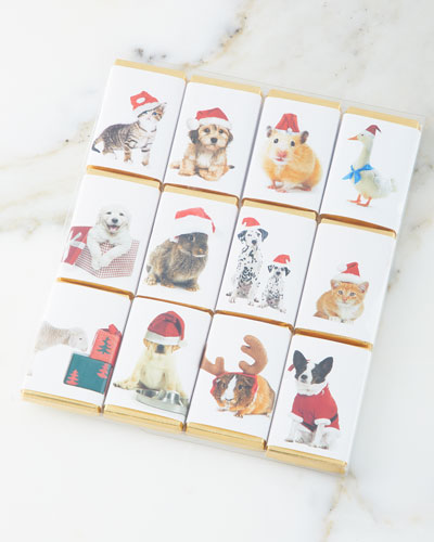 Cute Animal Holiday Chocolate Bar Pack