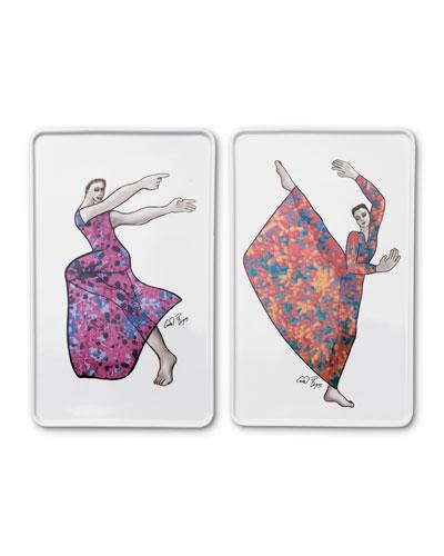 Dancer Rectangle Platters  Set of 2
