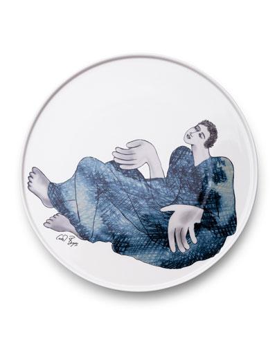 Indigo Girl's Round Platter 28cm