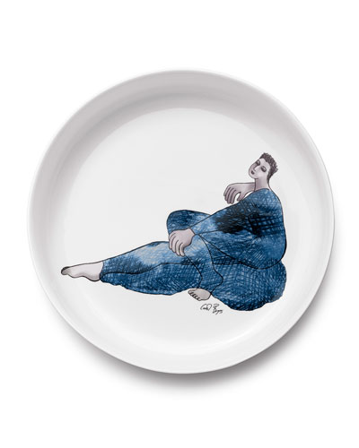 Indigo Girl's Low Bowl 32cm