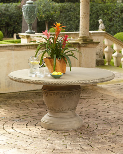 Single Pedestal Vine Indoor/Outdoor Dining Table