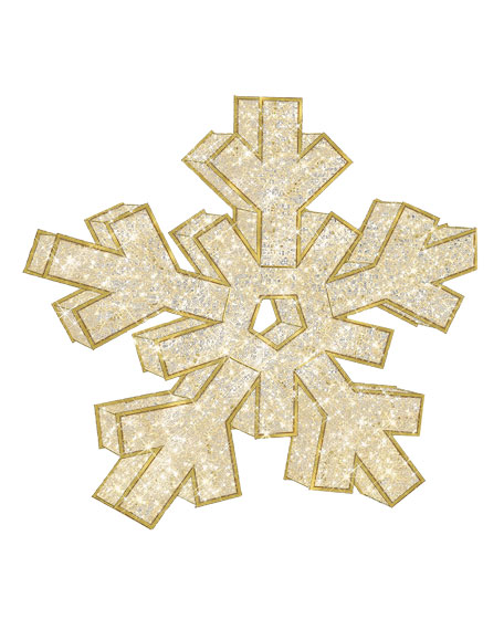 """3D Snowflake with Lights Indoor/Outdoor Christmas Decoration, 6'6"""""""