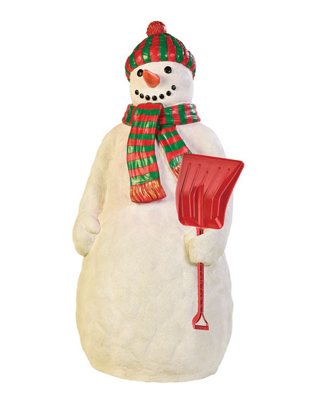 Live Form Snowman with Snow Shovel Outdoor Christmas Decoration, 67""