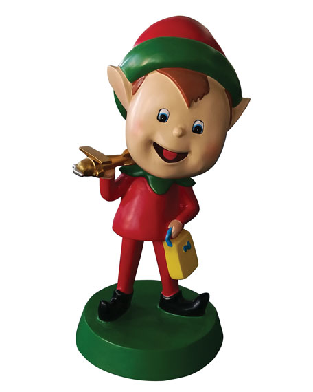 """Live Form Elf with Plane Outdoor Christmas Decoration, 30"""""""
