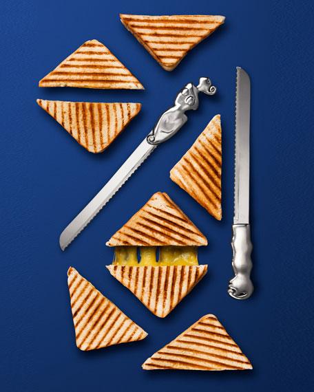 Woman Bread Knife