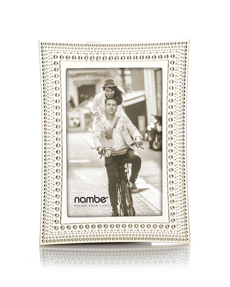 """Beaded Picture Frame, 4"""" x 6"""""""