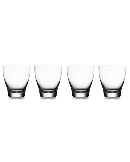 Nambe Vie Double Old-Fashioned Glasses, Set of 4