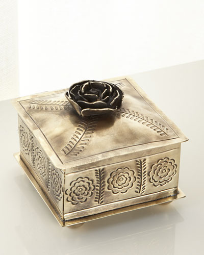 Small Stamped Rose Box