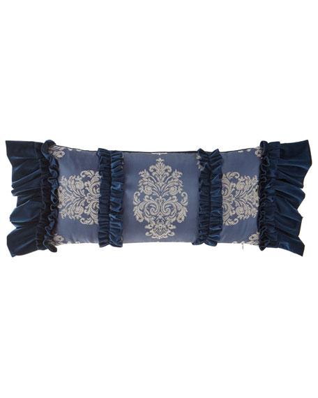 Belle Notte Oblong Pillow with Ruffles
