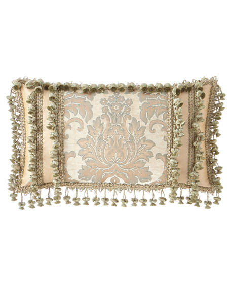 Gianna Oblong Pillow with Onion Fringe