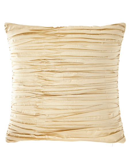 Foiled Crushed Silk Boutique Pillow