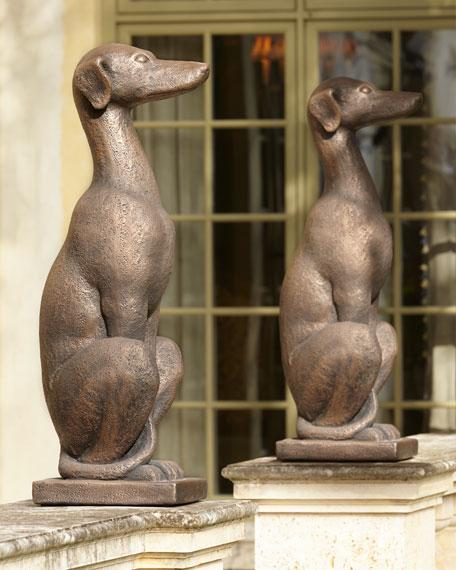 Greyhound Dog Bronze Sculpture