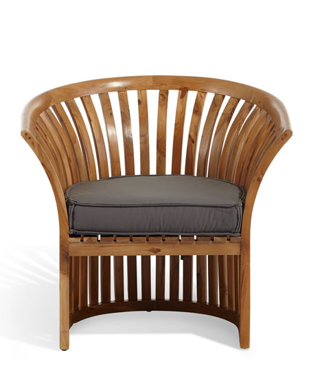 Teak Barrel Chair