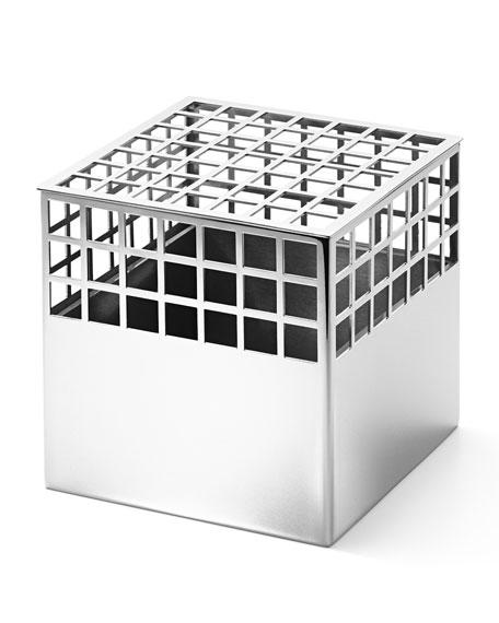 Georg Jensen Matrix Cube Stainless Steel Medium Vase