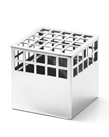 Georg Jensen Matrix Cube Mirror Stainless Steel Small
