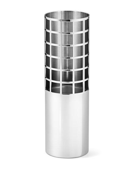 Georg Jensen Matrix Tube Mirror Stainless Steel Small Vase