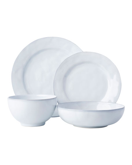 Juliska 4-Piece Quotidien White Truffle Dinnerware Place Setting