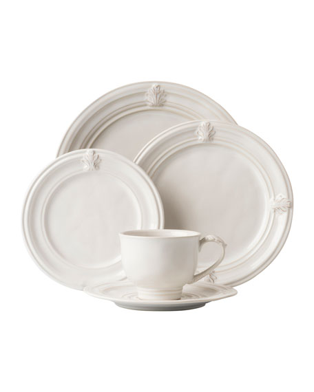 5-Piece Acanthus Whitewash Dinnerware Place Setting