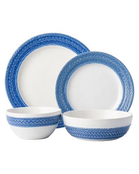 Juliska 4-Piece Le Panier Delft Blue Dinnerware Place