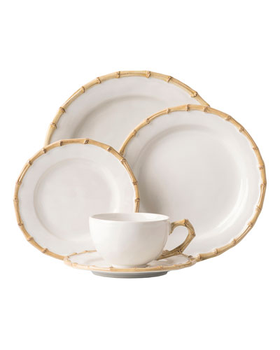 5-Piece Classic Bamboo Natural Dinnerware Place Setting
