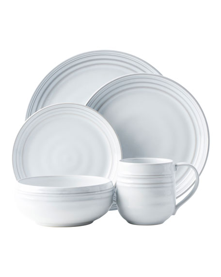 Juliska 5-Piece Bilbao White Truffle Dinnerware Place Setting