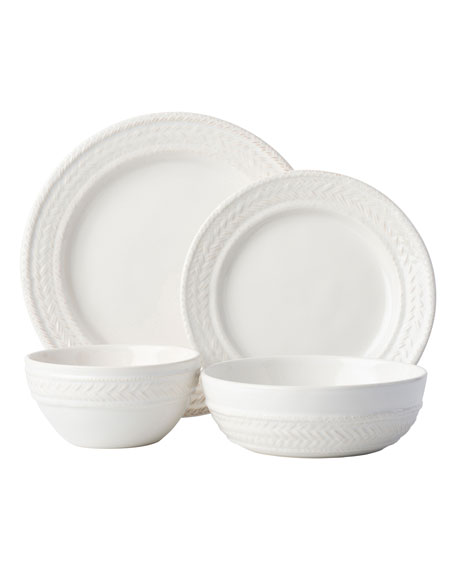 Juliska 4-Piece Le Panier Whitewash Dinnerware Place Setting