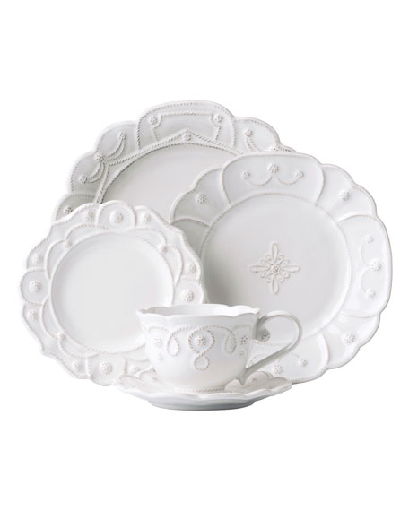 5-Piece Jardins du Monde Whitewash Dinnerware Place Setting