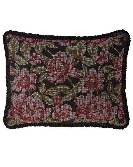Macbeth Floral King Sham with Piping