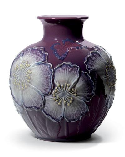 Poppy Flowers Vase