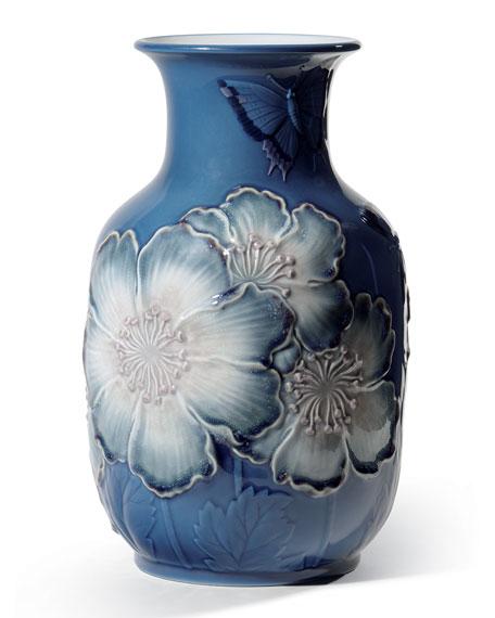 Poppy Flowers Tall Vase