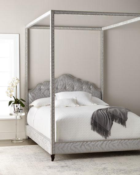 Athena Zebra King Canopy Bed