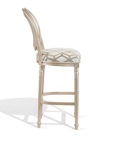 Fracture Silver Bar Stool
