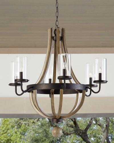 6-Light Outdoor Chandelier