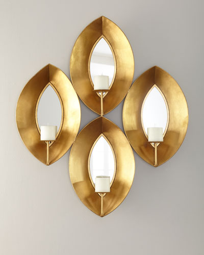 Mirror Teardrop Candleholder