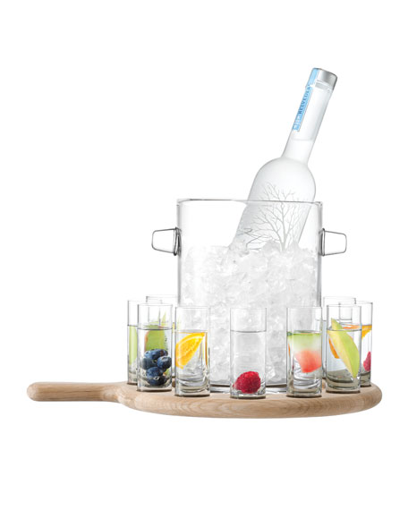 LSA Vodka Serving Set and Oak Paddle