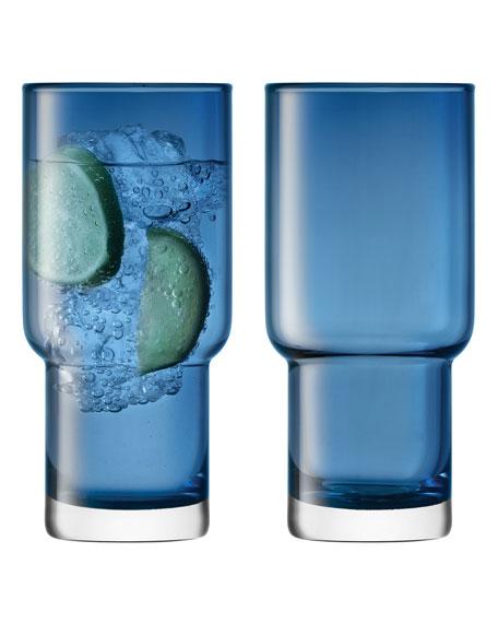 Utility Sapphire Highballs, Set of 2