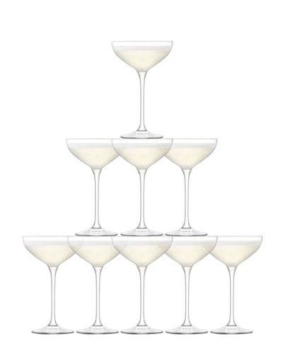 Tower Champagne Glasses  Set of 10