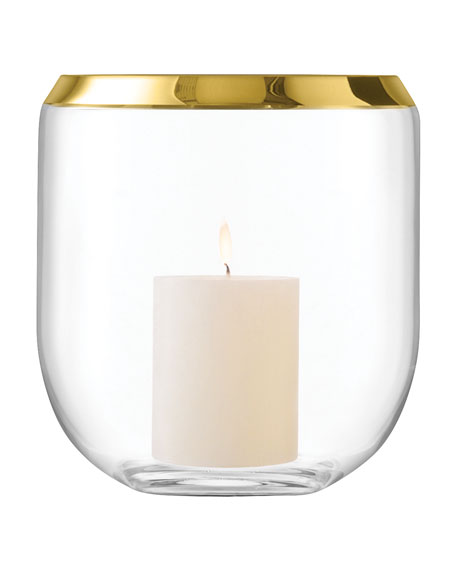 LSA Space Lantern Vase Gold