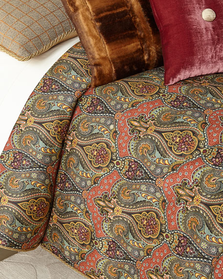 Spencer Paisley Queen Duvet Set