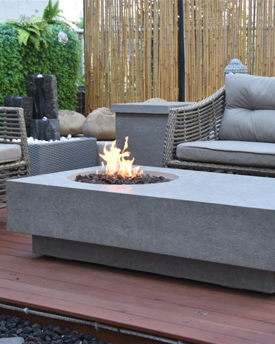 Metropolis Outdoor Fire Table, Natural Gas